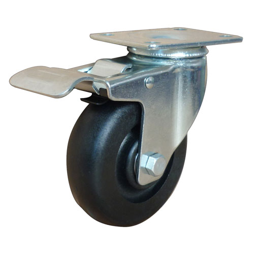 Medium duty high temperature resistance swivel caster with